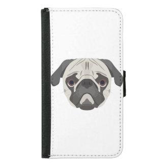 Illustration dogs face Pug Samsung Galaxy S5 Wallet Case