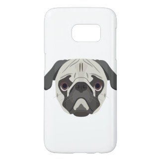 Illustration dogs face Pug Samsung Galaxy S7 Case