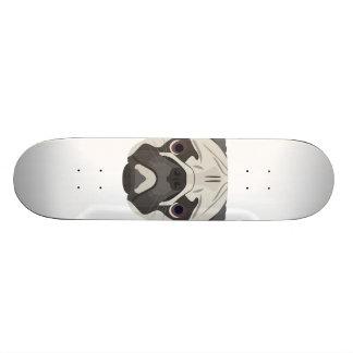 Illustration dogs face Pug Skate Board Deck
