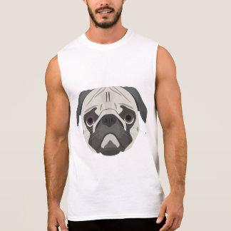 Illustration dogs face Pug Sleeveless Shirt