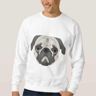 Illustration dogs face Pug Sweatshirt
