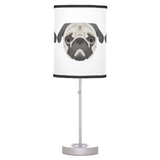 Illustration dogs face Pug Table Lamp
