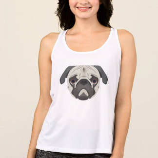 Illustration dogs face Pug Tank Top