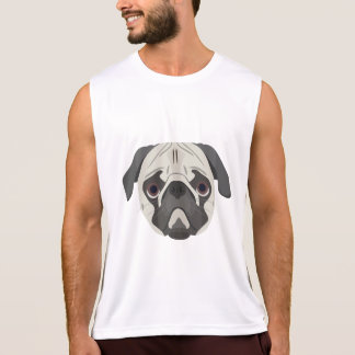 Illustration dogs face Pug Tank Top