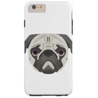Illustration dogs face Pug Tough iPhone 6 Plus Case