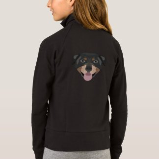 Illustration dogs face Rottweiler Jacket
