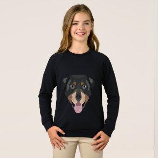 Illustration dogs face Rottweiler Sweatshirt