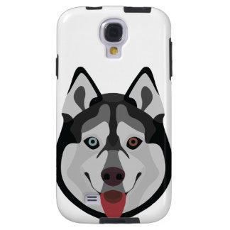 Illustration dogs face Siberian Husky