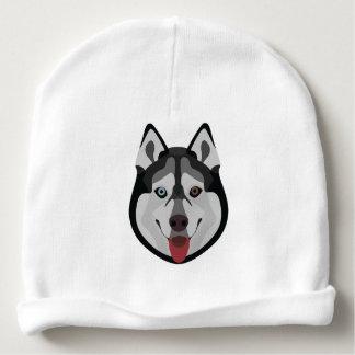 Illustration dogs face Siberian Husky Baby Beanie