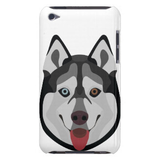 Illustration dogs face Siberian Husky Barely There iPod Covers