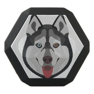 Illustration dogs face Siberian Husky Black Bluetooth Speaker