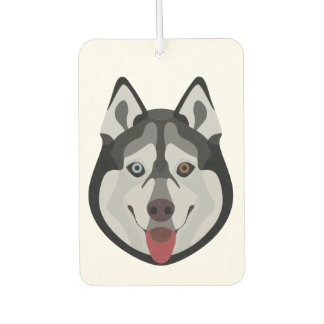 Illustration dogs face Siberian Husky Car Air Freshener