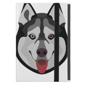 Illustration dogs face Siberian Husky Case For iPad Mini