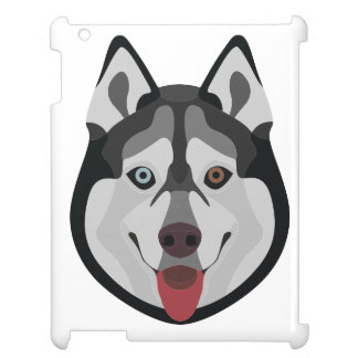 Illustration dogs face Siberian Husky Case For The iPad