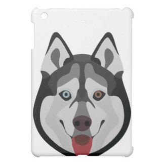 Illustration dogs face Siberian Husky Cover For The iPad Mini