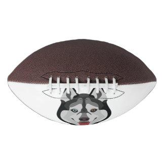 Illustration dogs face Siberian Husky Football