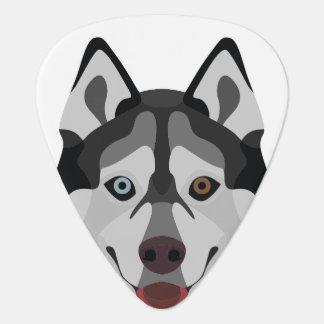 Illustration dogs face Siberian Husky Guitar Pick
