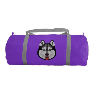 Illustration dogs face Siberian Husky Gym Bag