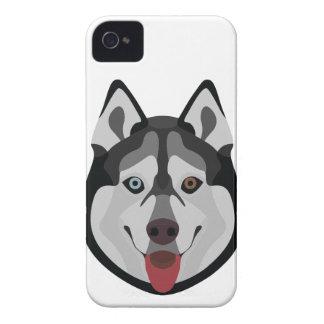 Illustration dogs face Siberian Husky iPhone 4 Case-Mate Case