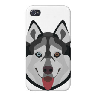 Illustration dogs face Siberian Husky iPhone 4 Cover