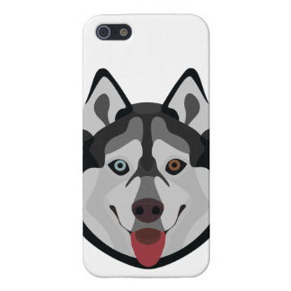 Illustration dogs face Siberian Husky iPhone 5/5S Case