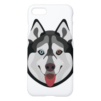 Illustration dogs face Siberian Husky iPhone 8/7 Case