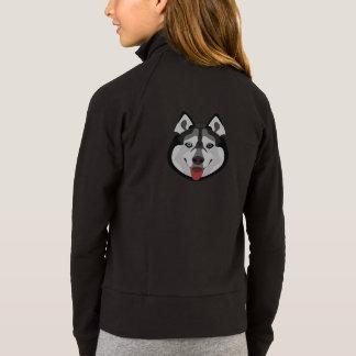 Illustration dogs face Siberian Husky Jacket