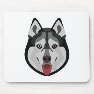 Illustration dogs face Siberian Husky Mouse Pad