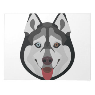 Illustration dogs face Siberian Husky Notepad
