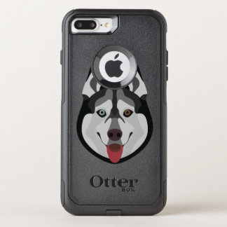 Illustration dogs face Siberian Husky OtterBox Commuter iPhone 8 Plus/7 Plus Case