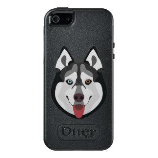 Illustration dogs face Siberian Husky OtterBox iPhone 5/5s/SE Case