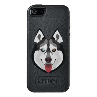 Illustration dogs face Siberian Husky OtterBox iPhone 5/5s/SE Case
