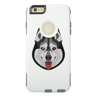 Illustration dogs face Siberian Husky OtterBox iPhone 6/6s Plus Case