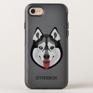 Illustration dogs face Siberian Husky OtterBox Symmetry iPhone 8/7 Case