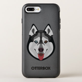Illustration dogs face Siberian Husky OtterBox Symmetry iPhone 8 Plus/7 Plus Case
