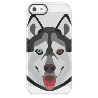 Illustration dogs face Siberian Husky Permafrost® iPhone SE/5/5s Case