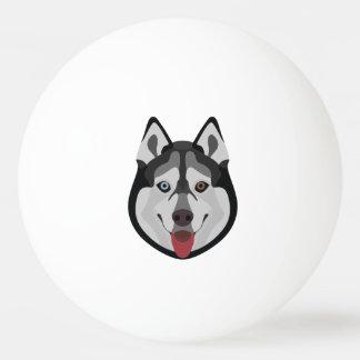 Illustration dogs face Siberian Husky Ping Pong Ball