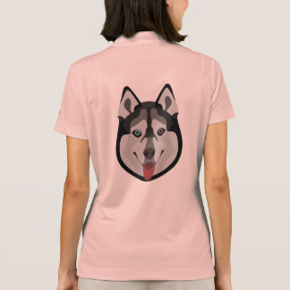 Illustration dogs face Siberian Husky Polo Shirt