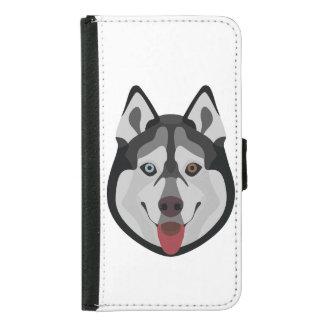 Illustration dogs face Siberian Husky Samsung Galaxy S5 Wallet Case