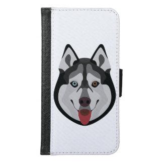 Illustration dogs face Siberian Husky Samsung Galaxy S6 Wallet Case