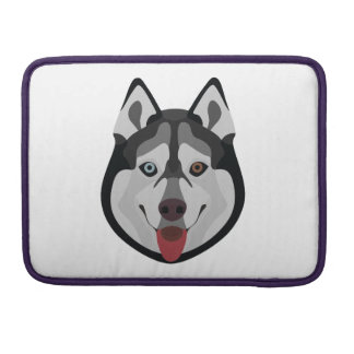 Illustration dogs face Siberian Husky Sleeve For MacBook Pro