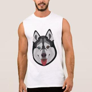 Illustration dogs face Siberian Husky Sleeveless Shirt