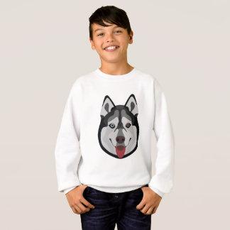 Illustration dogs face Siberian Husky Sweatshirt