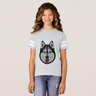 Illustration dogs face Siberian Husky T-Shirt