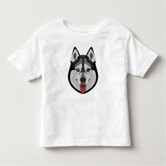 Illustration dogs face Siberian Husky Toddler T-shirt