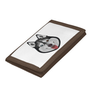 Illustration dogs face Siberian Husky Tri-fold Wallet