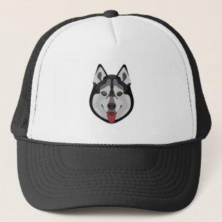 Illustration dogs face Siberian Husky Trucker Hat