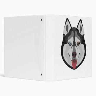 Illustration dogs face Siberian Husky Vinyl Binders