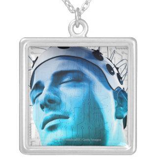 Illustration d'un homme utilisant un casquette des colliers