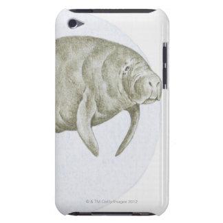 Illustration d'un lamantin (espèces de Trichechus) Étui iPod Touch